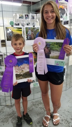 Photography Winners: Grand Champion Junior - Brayden Jarvis and Reserve Grand Champion - Brittley King