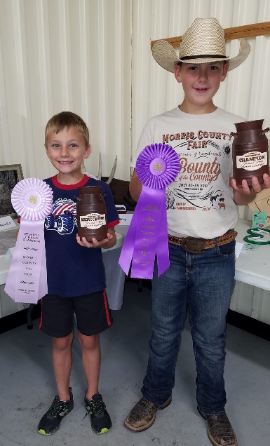Junior Visual Arts Winners: Brayden Jarvis, Champion, Eli Day, Reserve Champion