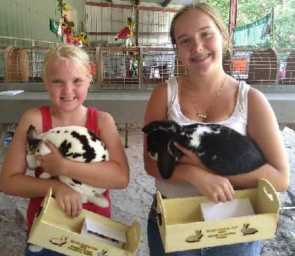 Rabbit Show Winners - Laramie Mayer, Reserve Champion, Riley Powell, Champion