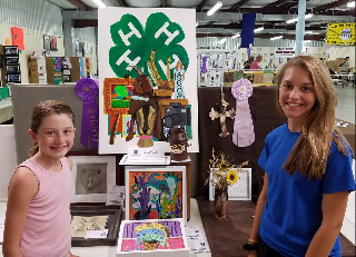 Visual Arts Intermediate Winners - Lexi Todd, Champion, Brittley King, Reserve Champion